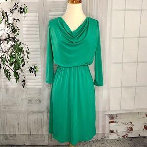Donna Ricco Stretch Jersey Dress 4 Emerald Green